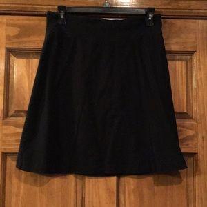 Black XS knit skirt